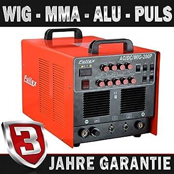 AC/DC TIG MMA FULLEX 200 P inversor equipo de soldadura de aluminio ...