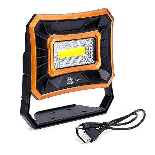 Kenthia 50W Solar LED COB USB Work Light IP65 Waterproof Floodlight Spotlight Outdoor Camping Emergency Lantern - Orange