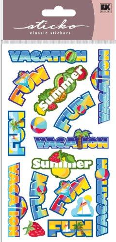 EK Success Brands Sticko Sticker, Vacation Words (Word Strawberry Book)