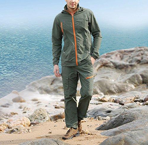 (スポする)Runwho メンズ 春秋夏用 軽量 登山パンツ ウエア 防風 通気 速乾 ゴルフウェアトレッキング ロングパンツ 全5色 M-XXL