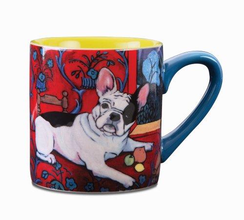 Paw Palettes French Bulldog Muttisse Ceramic Mug, 16-Ounce (Magnet Artists Palette)