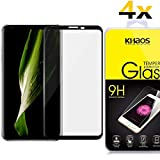 [4 Pack] Khaos For LG V30 [3D] [Full Cover] HD Clear Tempered Glass Screen Protector with Lifetime Replacement Warranty -Black