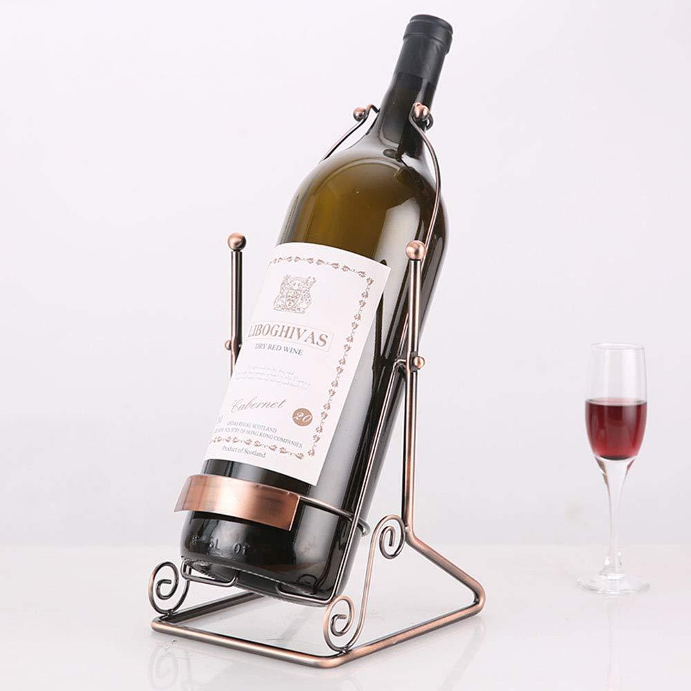 Middle 7.38.316inch Red Wine Shelf Wine Rack Creative Single Bottle Wine Holder Ornaments Decorations Living Room Bedroom Romantic Desktop Shelf (Big  8.6  9  18.5inch) (Size   Middle 7.3  8.3  16inch)