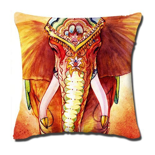 Cukudy Pengflair shop Abstract Elephants Pillow Cases Cushion Covers 18x18 inch , one side 50%cotton 50%polyester materials (Shop Throw Pillows)