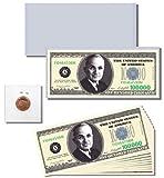 12pc.Casino / Poker Night Novelty $100,000 Dollar Bill Gift Set