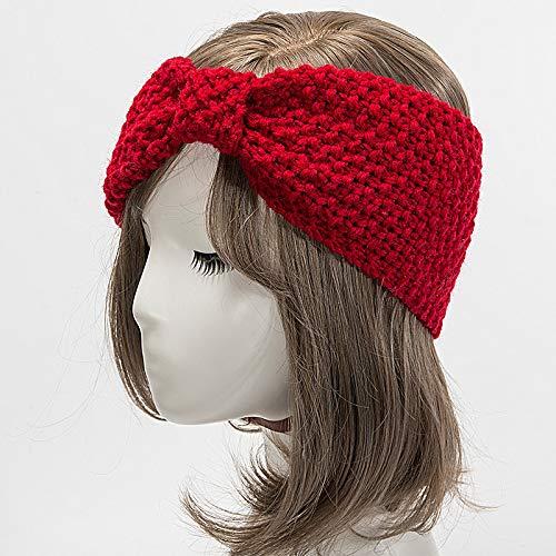 Design Häkelarbeit Stirnband Pink Schleife Gestrickt Kopfband ...