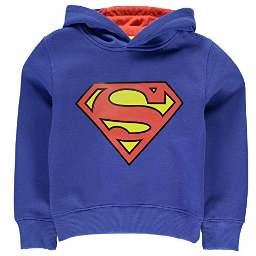 DC Comics Kinder Jungen Kapuzenpullover Hoody Hoodie Sweatshirt Langarm Superman 3-4 Yrs