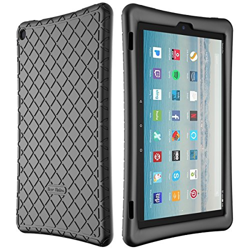 - Bear Motion Silicone Case for Fire HD 10 2017 - Anti Slip Shockproof Light Weight Kids Friendly Protective Case for All-New Fire HD 10 Tablet with Alexa (2017 Model) (Fire HD 10 2017, Black)