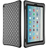Bear Motion Silicone Case for Fire HD 10 2017 - Anti Slip Shockproof Light Weight Kids Friendly Protective Case for All-New Fire HD 10 Tablet with Alexa (2017 Model) (Fire HD 10 2017, Black)