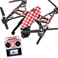 Skin For Yuneec Q500 & Q500+ Drone – Red Houndstooth | MightySkins Protective, Durable, and Unique Vinyl Decal wrap cover | Easy To Apply, Remove, and Change Styles | Made in the USA