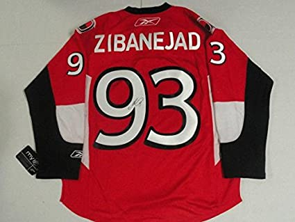 9701683ff Image Unavailable. Image not available for. Color  Mika Zibanejad Signed  Reebok Premier Ottawa Senators Jersey ...