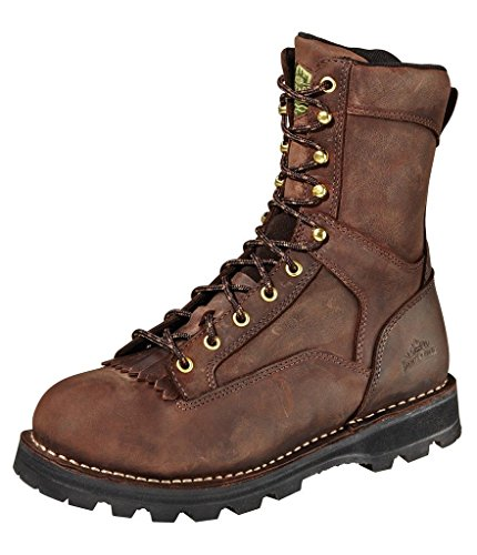 Wood n' Stream Mens Instigator 9in Timber Mountain Leather 440G Work Boots 9.5 - Timber Wood Shoes
