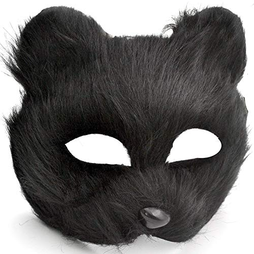 Black Cat Sexy Mask with Black Necklace [COMBO] - Great for a 2019 Halloween Costume - Cat Woman]()