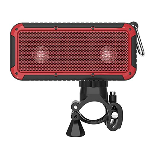 Coohole New Bee Pocket Portable Shockproof Waterproof Wireless Bluetooth Speaker (Red)