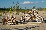 UGEARS Motorcycle with Sidecar 3D Puzzles