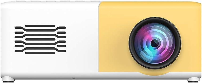 Opinión sobre Proyector de Video LED para niños, Mini proyector portátil HD 1080P con Altavoz HiFi, con Puertos HDMI/AV/USB/Tarjeta de Memoria, para Cine en casa/Interior(Enchufe DE LA UE)