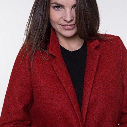 et alpaga Laine Coat en Long Rouge Manteau Trench and 1xSYwqgRq