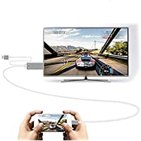 C-zone 3in1 USB 2.0 to HDMI HDTV HD Mirroring Adaptor Cable for iPhone7/6S/6/ 7 plus/6plus and Samsung galaxy S6/S6 edge/C9 pro/C5/J7/Note 5/HUAWEI-Sliver
