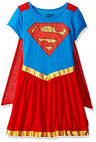 Superhero Girls Big Supergirl Dorm W/ Cape, Red, XL(14/16)