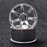 Overdose WORK EMOTION XT7 1/10 Drift Wheels 2pcs Matte Chrome OFF+3 #OD1793