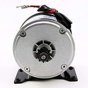 JCMOTO 24v 250w Brushed Speed Motor and Controller Set for Electric Scooter Go Kart Bicycle e Bike Tricycle Moped