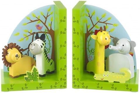 Orange Tree Toys Wooden Safari Animals Bookends
