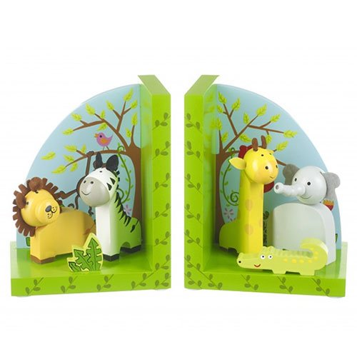 Orange Tree Toys : Wooden Safari Animals Bookends RY92K1230