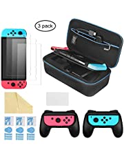 iAmer 6 en 1 Accessoires pour Nintendo Switch , 1x Etui Nintendo Switch + 2x Grip pour Joy-con Nintendo Switch + 3x Protection écran Switch