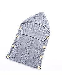 Anself Cute Warm Soft Newborn Infant Baby Sleeping Bedding Bag Sack Swaddle Wrap Blanket