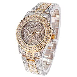 Luxury Watch With Crystal Rhinestone Diamond