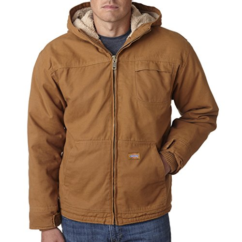 Dickies Men's Sherpa-Lined Hooded Work Jacket with Hand Warmers, - Dickies Jacket Work