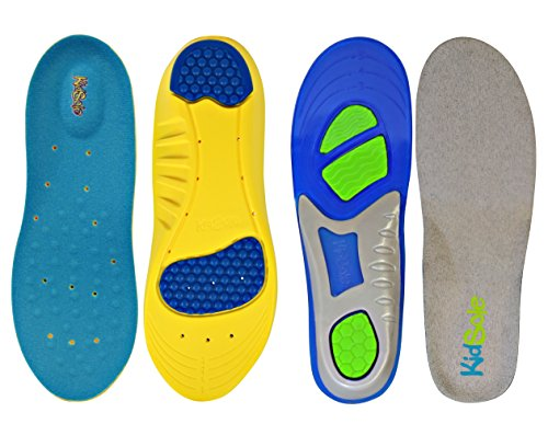 KidSole 2 Pack - 1 Sport Memory Foam Comfort and 1 KidSole Gel Insole - Ergonomic Athletic Insoles for Active Kids ((24 cm) US Kids Size (2-6)) by KidSole