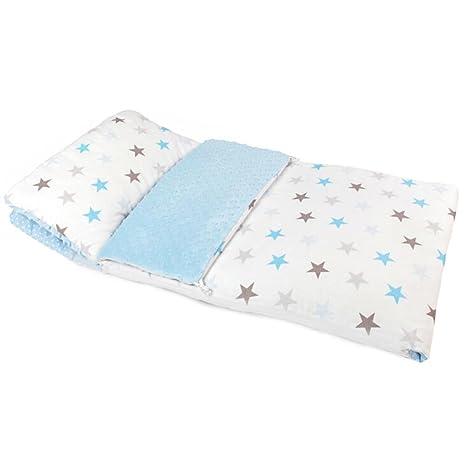 Zuzpol Saco De Dormir Con Almohada Para Bebé 90 x 50 cm , ecru-azul
