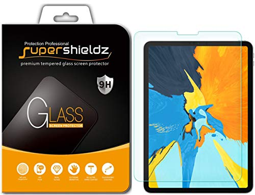 Supershieldz for Apple iPad Pro 11 inch Tempered Glass Screen Protector, Anti-Scratch, Bubble Free, Lifetime Replacement Warranty [Updated Version]