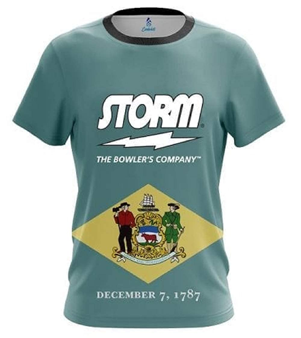 CoolWick Storm Delaware Flag Bowling Jersey
