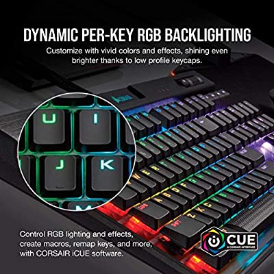 CORSAIR K70 RGB MK 2 Low Profile Mechanical Gaming Keyboard - USB