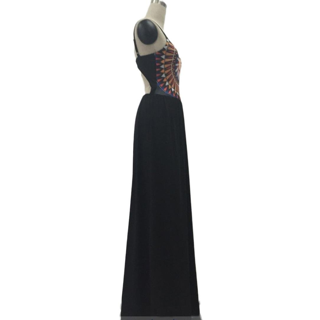 Usstore Women Camisole Long Dress Cotton Sleeveless Dresses (XL, Black) by Usstore (Image #8)