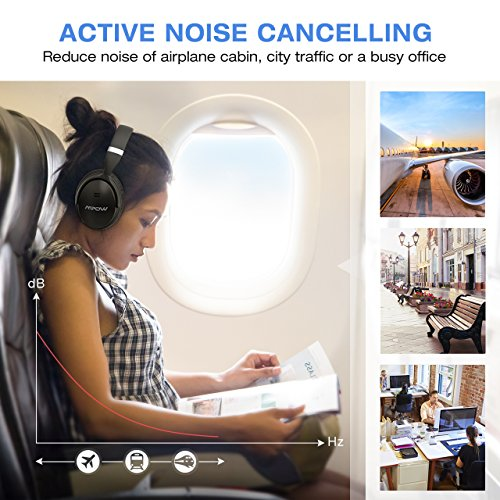 Computer Media Active Noise: Mpow [Update] H5 Active Noise Cancelling Bluetooth