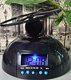 zinnor Flying UFO Propeller Fly High Helicopter Blade LCD Digital Alarm Prank Clock Run Away Wake Up Heavy Sleepers, Backlight Wake-Up Bad Morning Wake