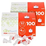 Care Touch Insulin Pen Needles 32 Gauge, 5/32 Inches, 4mm - 200 (2x100) Pen Needles