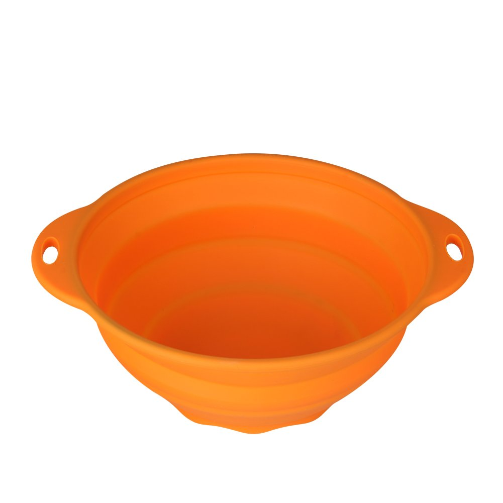 Jovilife Collapsible(Squish) Silicone Mixing Bowl,Orange(9 Cups/71oz)