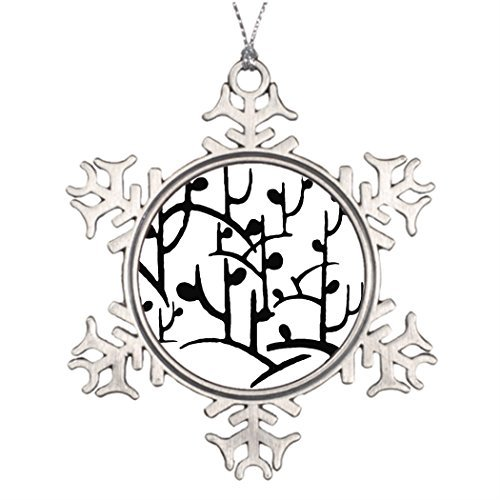 Metal Ornaments Tree Branch Decoration Modern Branches Pin Best Friend Snowflake Ornaments