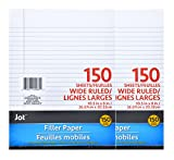 Jot Wide Ruled Notebook, Binder, Filler Paper, 150 Pages, Two Pack
