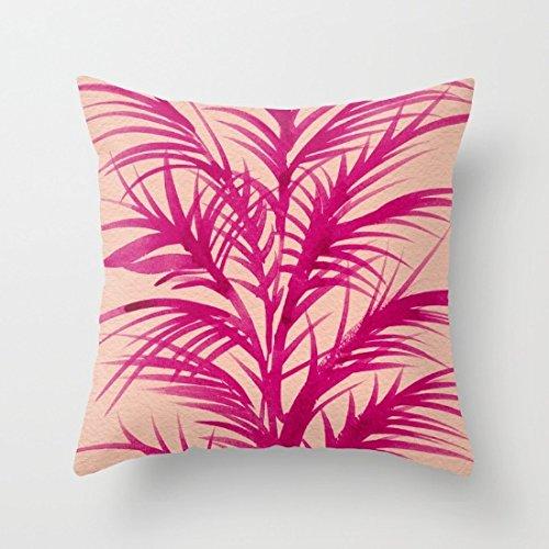 Coral Tropical palmeras lienzo manta fundas de almohada ...