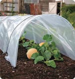 Agfabric 6Mil Plastic Covering Clear Polyethylene Greenhouse Film UV Resistant for Grow Tunnel and Garden Hoop, Plant Cover&Frost Blanket for Season Extension, W20'xL36'