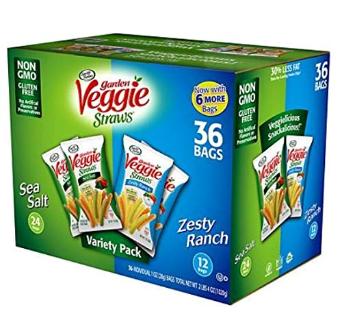 Sea Salt & Zesty Ranch | Gluten Free & Vegan | 36 Bags Variety Pack | 2 Flavors by Sensible Portions