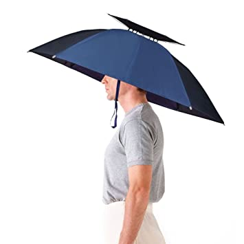 4f780be73 Aoneky Windproof Head Umbrella Hat -36'' Large Adults Folding Brolly Hat  with Hands