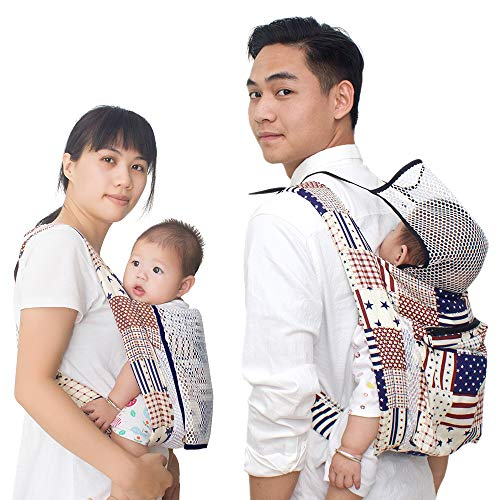 Soft Baby Wrap Carriers Slings - Adjustable Baby Sling, Breathable Baby Wraps, Lightweight Cotton Nursing Cover - Perfect for Babies,Infants,Toddlers and Kids Up to 35 LBS (6-24 - Cotton Adjustable Sling Baby