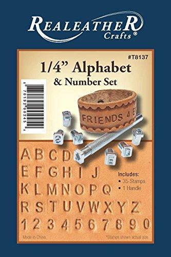Realeather Crafts Alphabet and Number Stamp Set ()