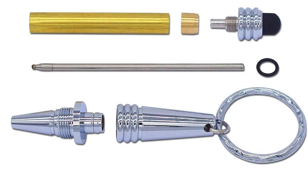 Chrome key chain stylus pen kit